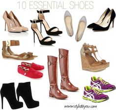 {the basics} 10 ESSENTIAL SHOES every woman should have in her closet. www.styledbyroz.com