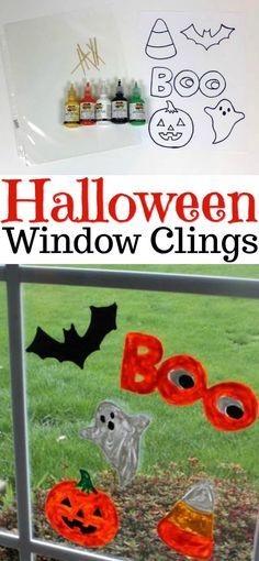 embroidery patterns for Christmas ornaments Window Clings DIY - halloween window clings