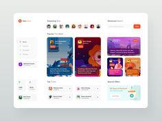 Edukated - Live Education Courses Web App by Dmitriy Kharaberyush on Dribbble Ui Design Mobile, Best Web Design, App Ui Design, User Interface Design, Flat Design, Design Design, Ui Design Software, Mobile Ui, Game Interface