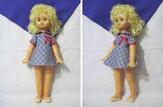 Кукла Лариса, 60 см, шагает, Вятка, Киров, СССР, 1980. Бирка!