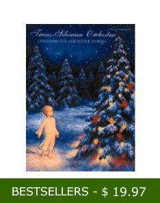 $19.97  Trans-Siberian Orchestra: Christmas Eve & Other Stories  . A brilliant blend of classical music and rock,  it has been described as one of the best holiday recordings to come out in years.Titles included,  transcribed for (Piano/Vocal/Chords)are: An Angel Came Down; An Angel Returned; Christmas Eve/Sarajevo 12/24; The First Noel; First Snow; A Mad Russian's Christmas; The Prince of Peace; The Silent Nutcracker; This Christmas Day