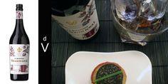 La Quintinye Vermouth Royal Rouge y pincho de morcilla de arroz con cebollino.