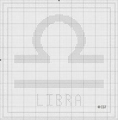 Free Printable Libra Zodiac Cross Stitch Chart