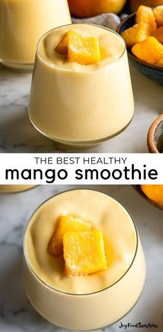 The BEST mango smoothie recipe! This healthy & easy mango smoothie is made in 5 minutes with 6 ingredients (including coconut milk, yogurt and banana)! It's ultra creamy and you can use fresh or frozen mango and easily make it dairy-free! Mango Smoothie Healthy, Mango Banana Smoothie, Mango Smoothie Recipes, Coconut Milk Smoothie, Yogurt Smoothies, Easy Smoothies, Making Smoothies, Healthy Smoothie Recipes, Coconut Milk Yogurt