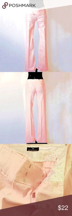 "SALE!! Windsor Pants • Light Pink Boot Leg Cut XS Windsor pants in light/ pastel pink • Boot leg cut • Made in USA • Size xsmall/small • Perfect condition • Never worn • Measurements are waist: 30"", hips: 34"", length: 39"" WINDSOR Pants Boot Cut & Flare"