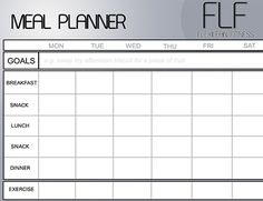 FREE MEAL PLANNER WITH YOUR NAME ON IT