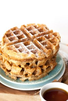 Flax Seed Belgian Waffles | http://mycaliforniaroots.com/flax-seed-belgian-waffles/