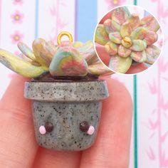 #kawaii #charms #polymer #clay #succulent