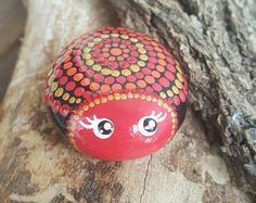 Rock art,Office/garden decor, hand-painted rocks, birthday gift, lady bug, perfect present, custom order, personalize