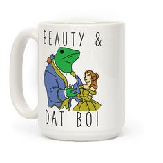 Beauty And Dat Boi - Here come dat boi! Oh shit whaddup!? Show your love for princesses that fall in love with animals with this funny meme inspired design.