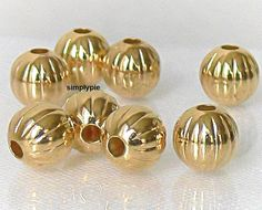 Gold Plated Round Corrugated Metal Brass Beads 8 by simplypie Metal Beads, Gold Beads, Corrugated Metal, Silver Filigree, Plating, Brass, Etsy Shop, Unique Jewelry, Handmade Gifts