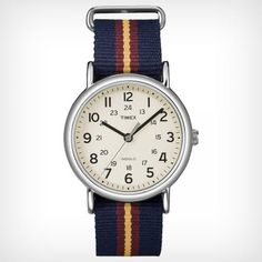 Easy to read, super comfortable fabric watch band, light weight - Timex Weekender™ Slip Thru