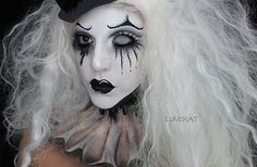 Black and white clown makeup                                                                                                                                                                                 More