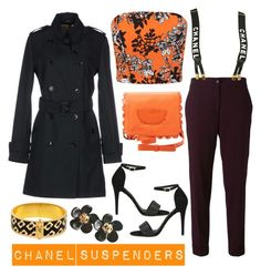 """""""Chanel Suspenders"""" by stacinelsoncole ❤ liked on Polyvore featuring ANTONIO CROCE, Miss Selfridge, Etro, Ravel, See by Chloé, Chanel and Diane Von Furstenberg"""