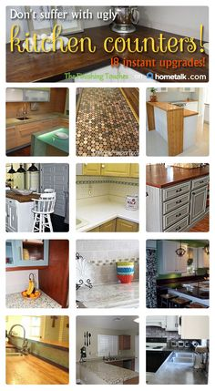 Incredible DIY kitchen counters.
