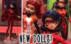 New Miraculous Ladybug dolls from Playmates coming in Including Ladybug with hair down doll and Marinette's room playset! Miraculous Ladybug Queen Bee, Miraculous Ladybug Anime, Doll With Hair, Her Hair, Marinette Doll, Face Mold, One Wave, Cat Pillow, Disney Dolls