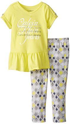 Calvin Klein Little Girls' Tunic with Printed Leggings, Lime, 2T Calvin Klein http://www.amazon.com/dp/B00K7589L0/ref=cm_sw_r_pi_dp_oe.Wub1J7HZ2T