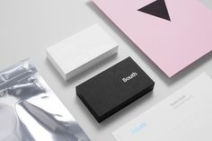 Business cards with block foil detail for Auckland based graphic design business Studio South