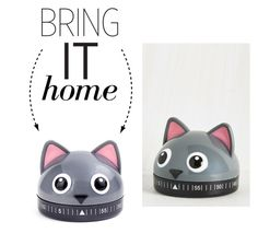 """""""Bring It Home: Kikkerland Cat Kitchen Timer"""" by polyvore-editorial ❤ liked on Polyvore featuring interior, interiors, interior design, home, home decor, interior decorating, Kikkerland, kitchen and bringithome"""