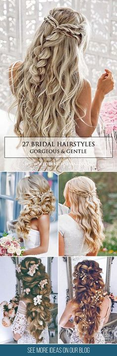 27 Gorgeous Bridal Hairstyles ❤ There are many beautiful bridal hairstyles to look gorgeous on a big day. Look through our gallery and make your decision what hairstyle to choose! See more: http://www.weddingforward.com/bridal-hairstyles/ #wedding #hairstyles #updos
