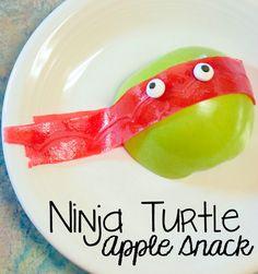 Teenage Mutant Ninja Turtle Apple Snack - Hallecake