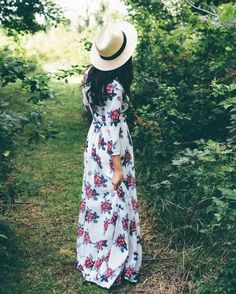 This is Pretty Women's Floral Dresses Spring Summer Outfits Ideas. Women usually utilize sash as the wrap. So, they must be aware of the latest trends in fashion, including the current in-dem… Modest Dresses, Modest Outfits, Cheap Dresses, Modest Fashion, Cute Dresses, Beautiful Dresses, Summer Outfits, Cute Outfits, Floral Dresses