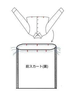 【型紙・作り方】簡単リメイクワンピース - ハンドメイド洋裁ブログ yanのてづくり手帖-簡単大人服・子供服・小物の無料型紙と作り方- Diy And Crafts, Chart, Sewing, Japanese Clothing, Index Cards, Dressmaking, Couture, Stitching, Sew