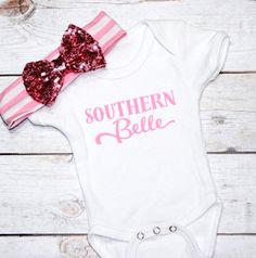 Memorial Day Sale Southern Belle- Texas Girl- Southern Girl bodysuit- Country Girl shirts- Rodeo Girl- Rodeo Baby- Southern Girl gifts- Cute by DaliceDesigns on Etsy