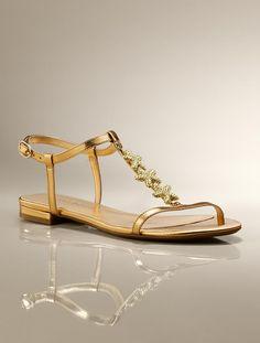 Talbots - Faira Metallic Twinkling Starfish Sandals | | Medium