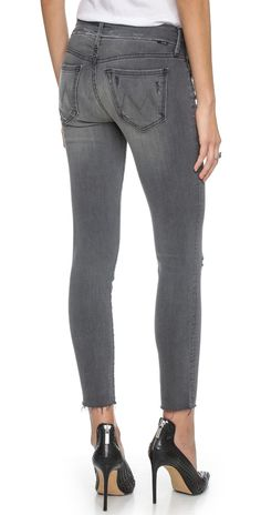MOTHER Looker Skinny Ankle Fray Jeans | SHOPBOP