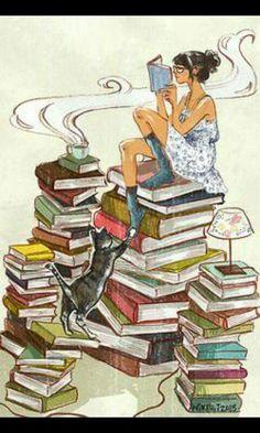 Kitap, kahve, kedi
