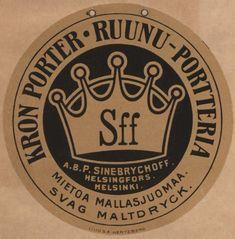 #Sinebrychoff #Helsinki #olut #portteri #beer #etiketit #labels #porter #kruunut