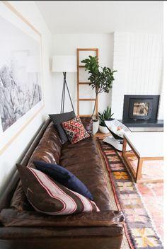 Restoration hardware leather sofa