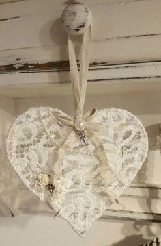 Shabby heart lace ♡ shabby chic hart van kant♡