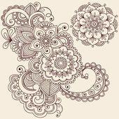 Desenhos de tatuagem de henna mehndi vector de elementos de design — Ilustração de Stock #8693168