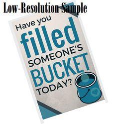 Have You Filled Someone's Bucket? Classroom Posters, Grade 3, Ontario, Bucket, Buckets, Aquarius