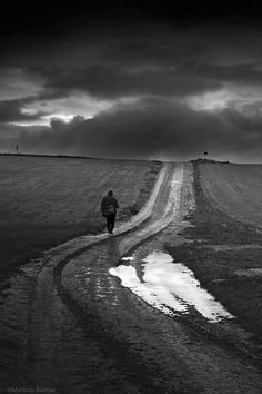 Path / Black and White Photography by Mariano Belmar Dark Photography, Black And White Photography, Landscape Photography, Loneliness Photography, Black N White, Black White Photos, Long Way Home, Photo D Art, Great Photos