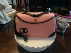 Channel handbag cake from candy's cupcakes
