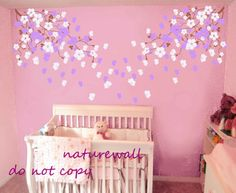 Nursery wall decals wall stickers blossom vines  by NatureWall, $82.00