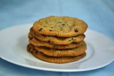 These are thin and crispy gluten free chocolate chip cookies. If you're a crispy cookie sort of person, you've come to just the right place.