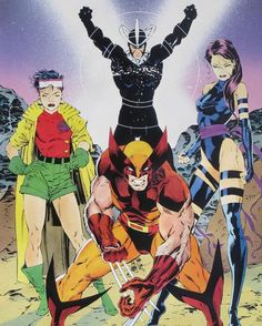 Marvel Comics: The X-Men by Jim Lee (X-Factor/X-Force) [Jubilee, Havok, Wolverine, and Psylocke] Comic Book Artists, Comic Book Characters, Marvel Characters, Comic Artist, Comic Character, Comic Books Art, Hq Marvel, Marvel Comics Art, Marvel Heroes