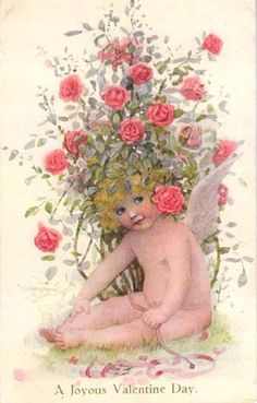 Divided Back Postcard A Joyous Valentine Day Cupid My Sweet Valentine, Valentines Day Holiday, Victorian Valentines, Valentine Images, My Funny Valentine, Vintage Valentine Cards, Vintage Greeting Cards, Vintage Postcards, Vintage Images