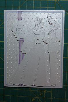 #Cricut - Happily Ever After, Art Philosophy Cricut Cartridges, Dotted Swiss Cuttlebug folder