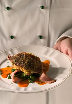 Buster Crab with Tasso & Wilted Spinach