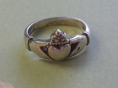 Vintage Sterling Silver Claddagh Ring by EternalElementsEtsy, $24.00