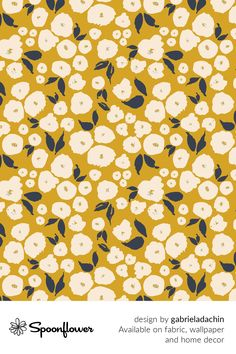 Customize your own home decor, #wallpaper and #fabric at Spoonflower. Shop your favorite indie designs on #fabric, #wallpaper and home decor products on Spoonflower, all printed with #eco-friendly inks and handmade in the United States. #patterndesign #textildesign #pattern #digitalprinting #homedecor #florals #floral #mustard Art Patterns, Pattern Art, Textures Patterns, Pattern Design, Graphite Drawings, Art Things, Fabric Wallpaper, Floral Designs, Own Home