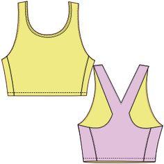Elige entre una gran variedad de moldes de ropa y patrones ropa bebes Top deportivo 2879 DAMA Top