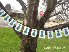 FATHERS DAY tie banner,  works for missionaries too!