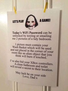 Thats the evilest thing i can imagine | Saw wifi game via...