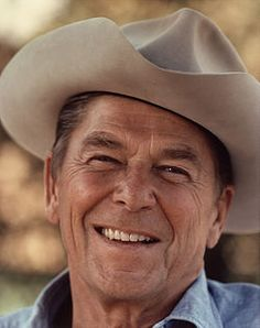 3749e1a4d405a Ronald Reagan pictured at Rancho Del Cielo wearing a cowboy hat. served as  a vacation home for the President   became known as the  Western White  House  ...